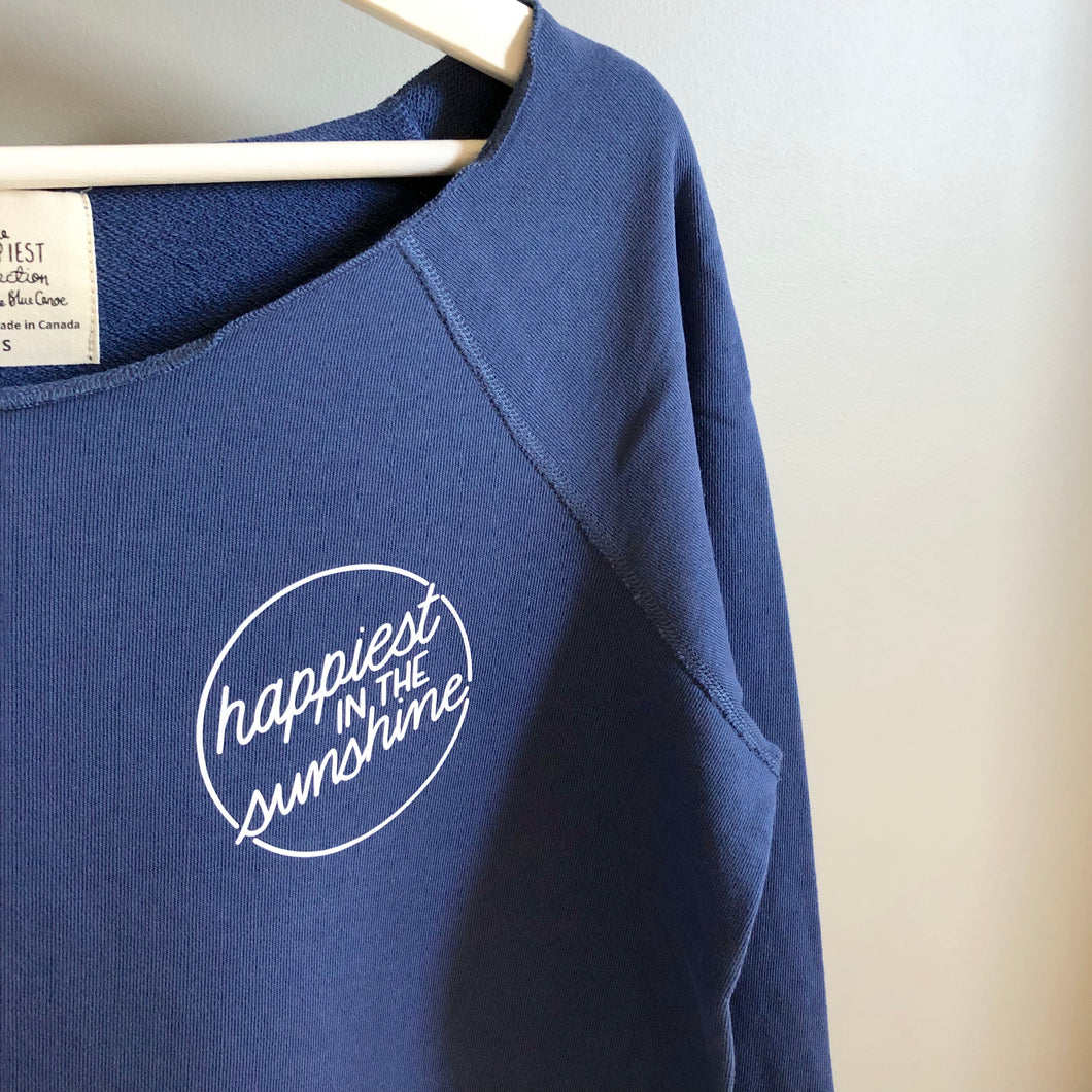 Happiest in the Sunshine - Raw Edge Pullover