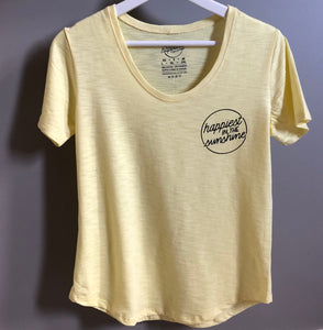 Happiest in the Sunshine - Women's Bamboo + Cotton Slub Scoop Tee