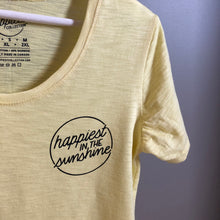 Load image into Gallery viewer, Happiest in the Sunshine - Women's Bamboo + Cotton Slub Scoop Tee
