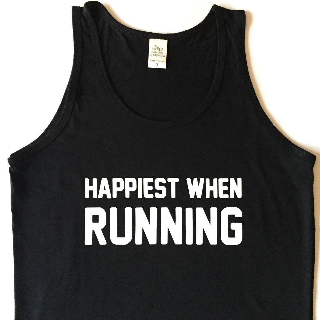Happiest When Running - Bamboo + Organic Cotton Tank Top