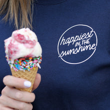 Load image into Gallery viewer, Happiest in the Sunshine - Adult Unisex Crewneck
