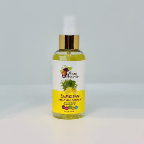 Alikay Naturals - Lemongrass Sleek and Shine Finishing Oil ( 4oz)