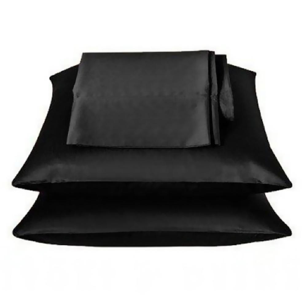 Black Satin Pillow Case