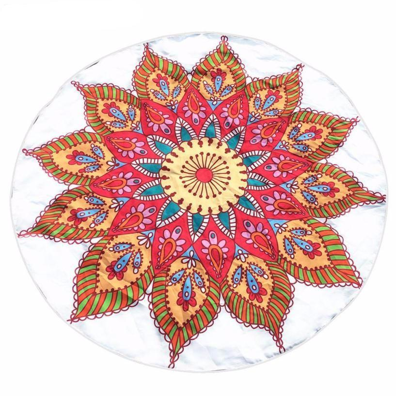 Summer Round Printing Tapestry