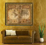 Vintage Style Old World Nautical Map