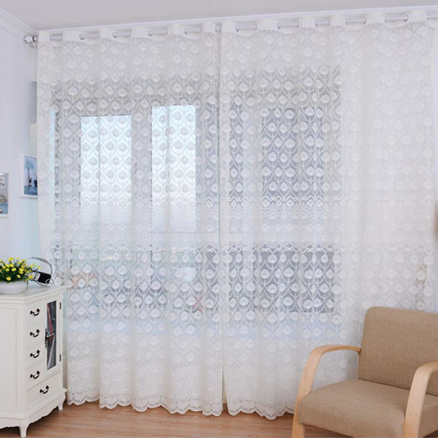 Feather Tulle Door Curtain