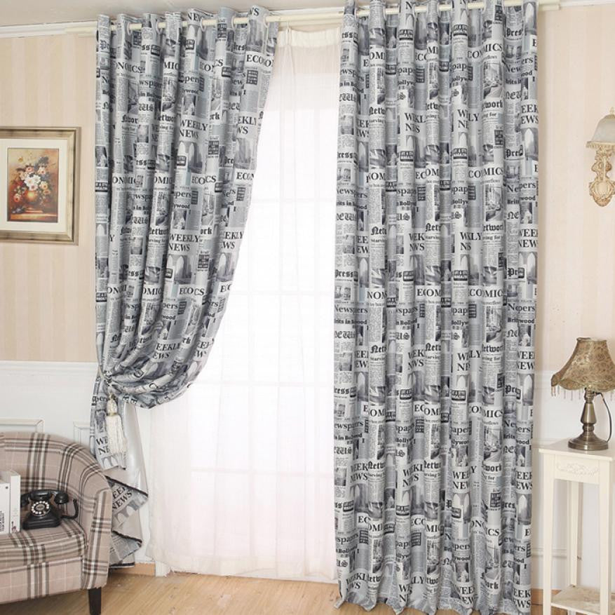 Newspapers Pattern Curtain