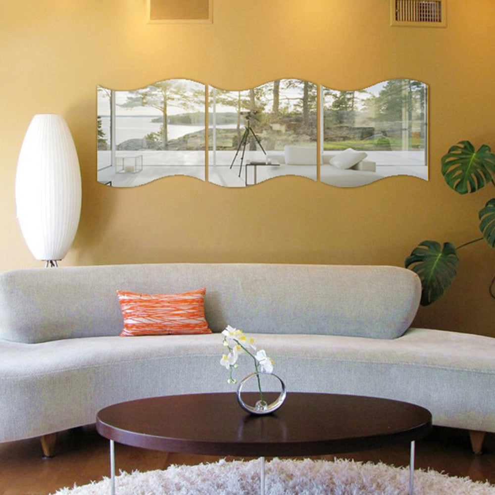 3 Pcs DIY Mirror Wall Sticker