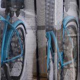 Bicycle Print Tulle Window Curtain