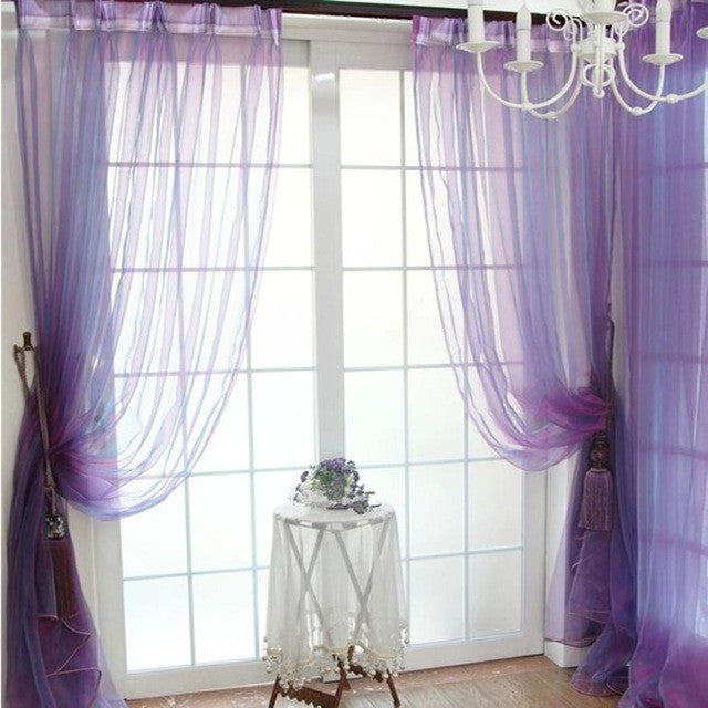 Sheer Voile Door Curtain
