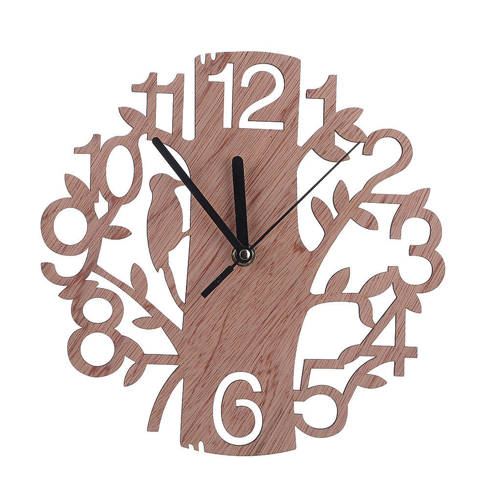 Wood Wall Silent Clock