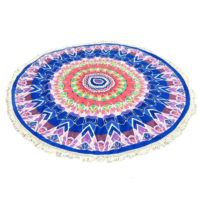Abstract Round Tassel Tapestry