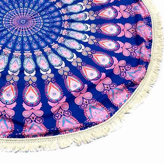 Purple Hippie Tassel Tapestry