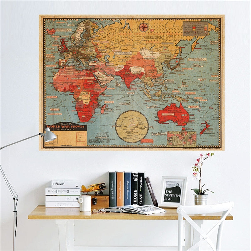 Kraft Paper Antique Map Poster