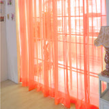 Pure Color Tulle Door Curtain