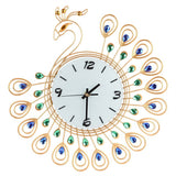 Luxury Peacock Silent Wall Clock