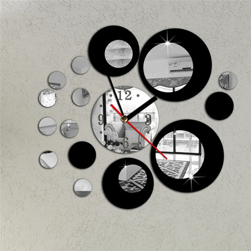 3D Crystal Mirror Wall Clock