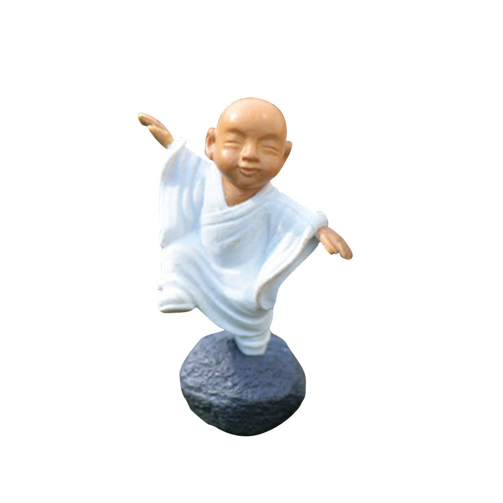 Ceramic Monks Figurine