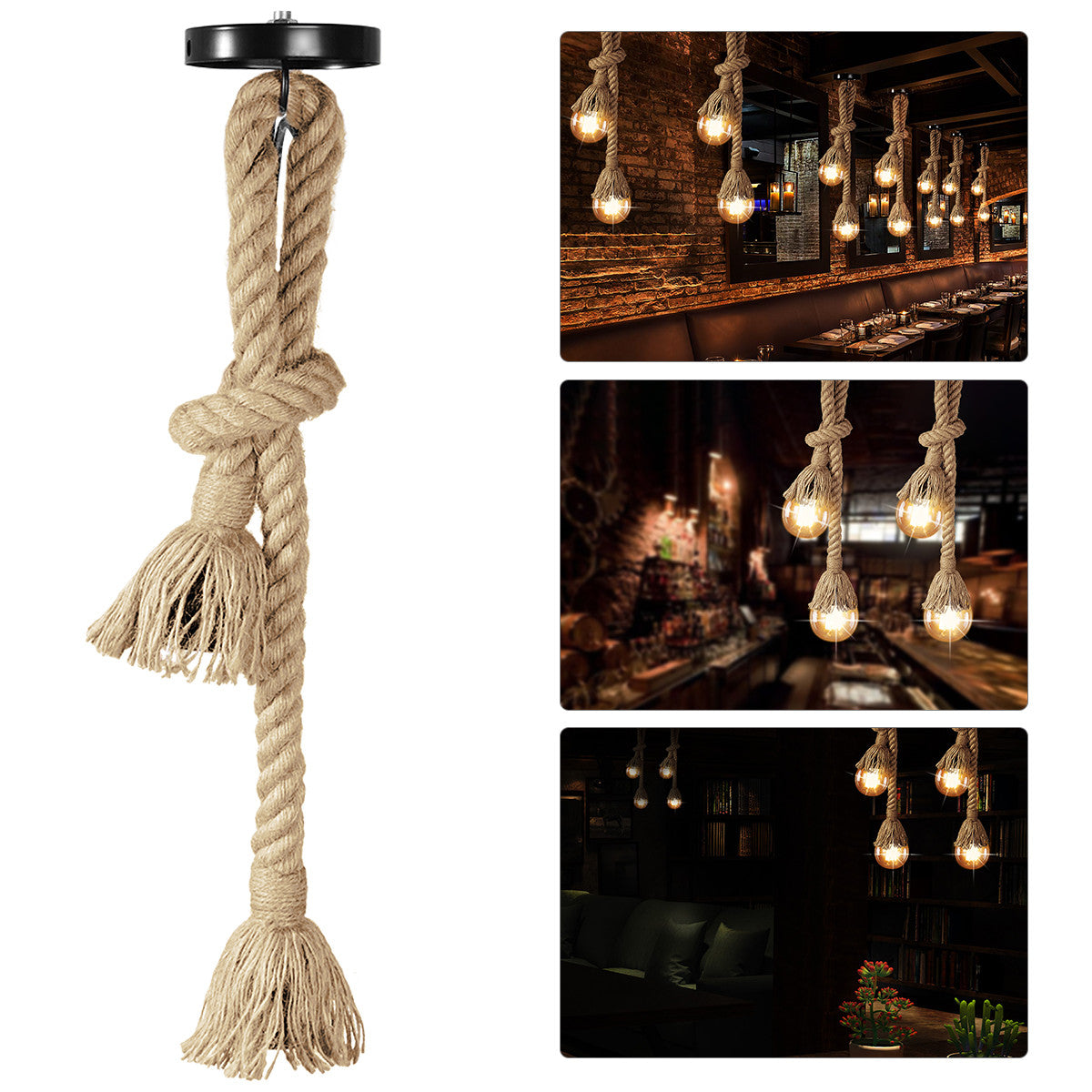 Rustic Hanging Rope Lights