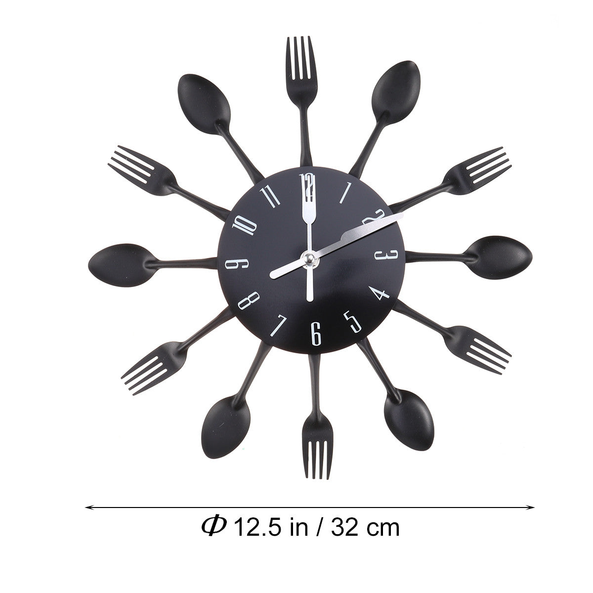 Modern Cutlery Kitchen Wall Clock