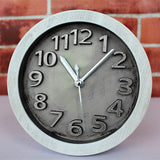 3D Retro Stainless Steel Clock