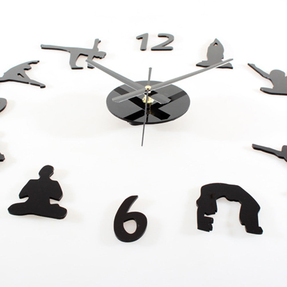 Creative Yoga Pattern Wall Clock