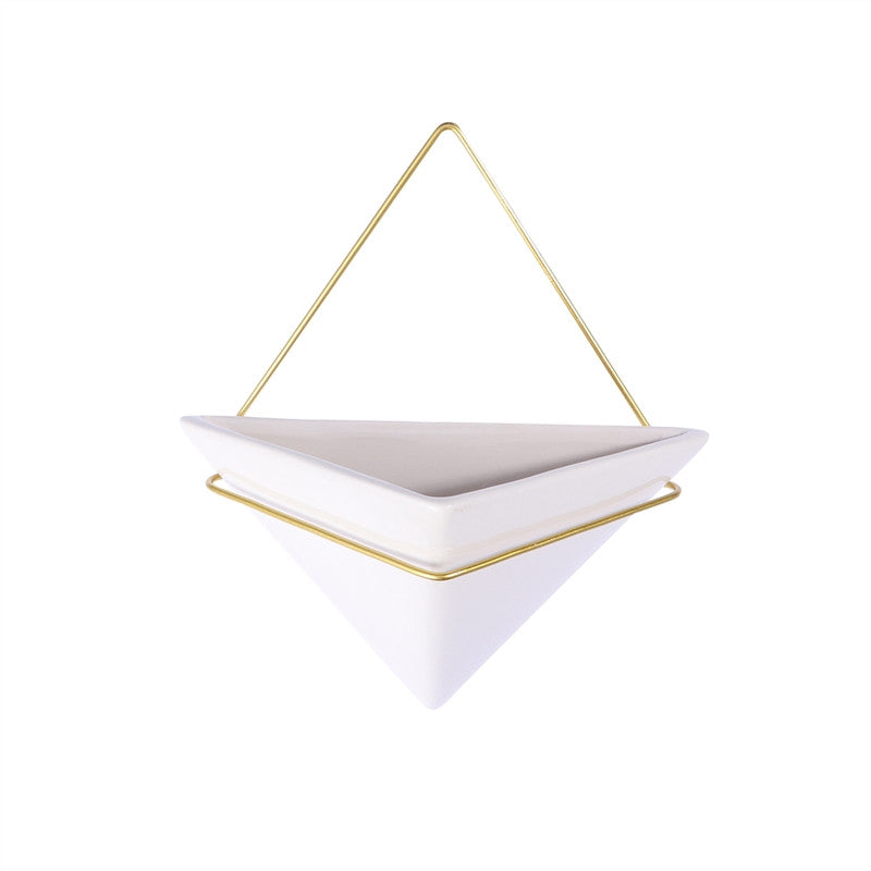 Ceramic Triangle Hanging Planter