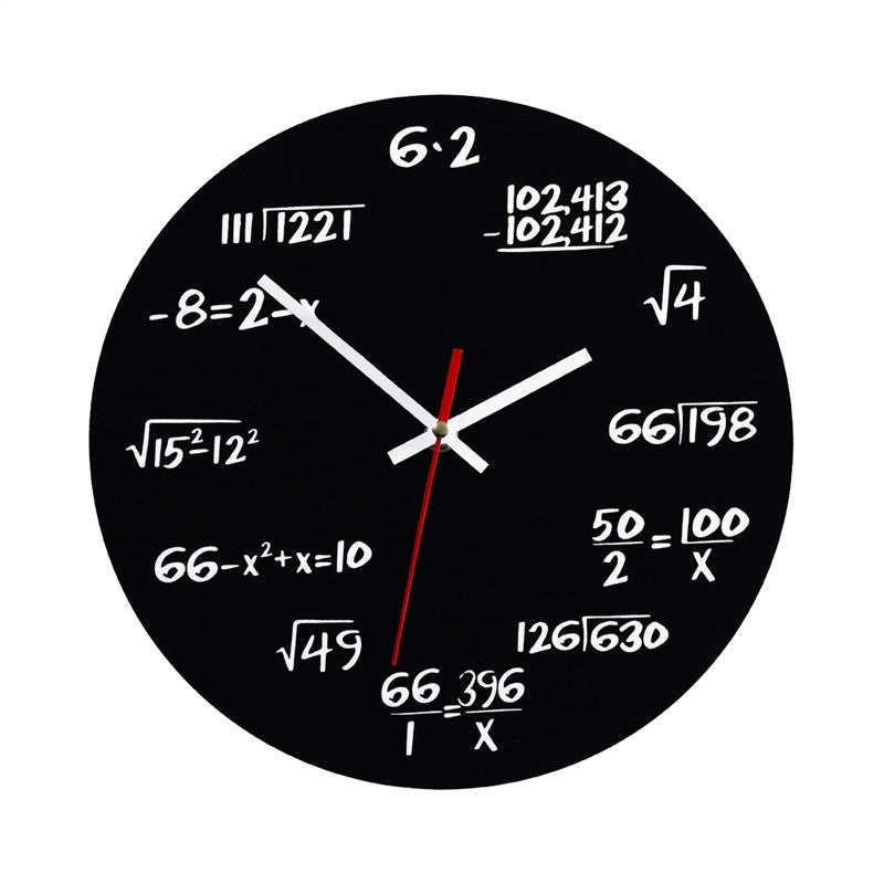 Creative Math Wall Clock