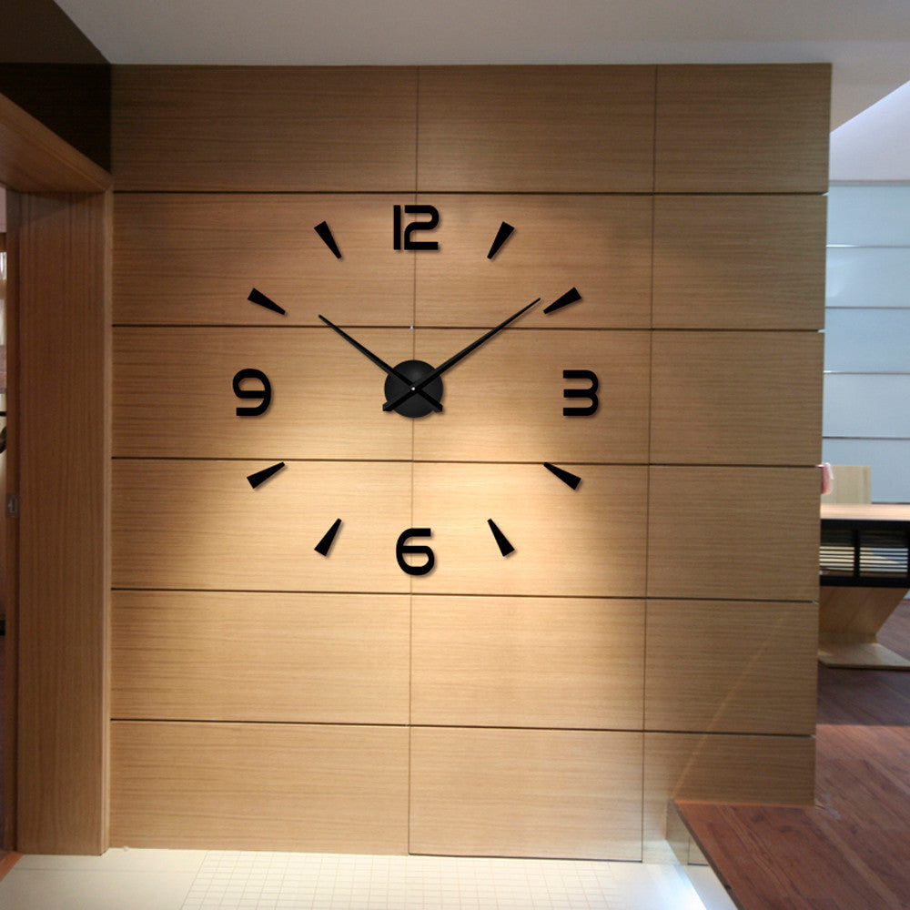 Modern Large 3D DIY Wall Clock