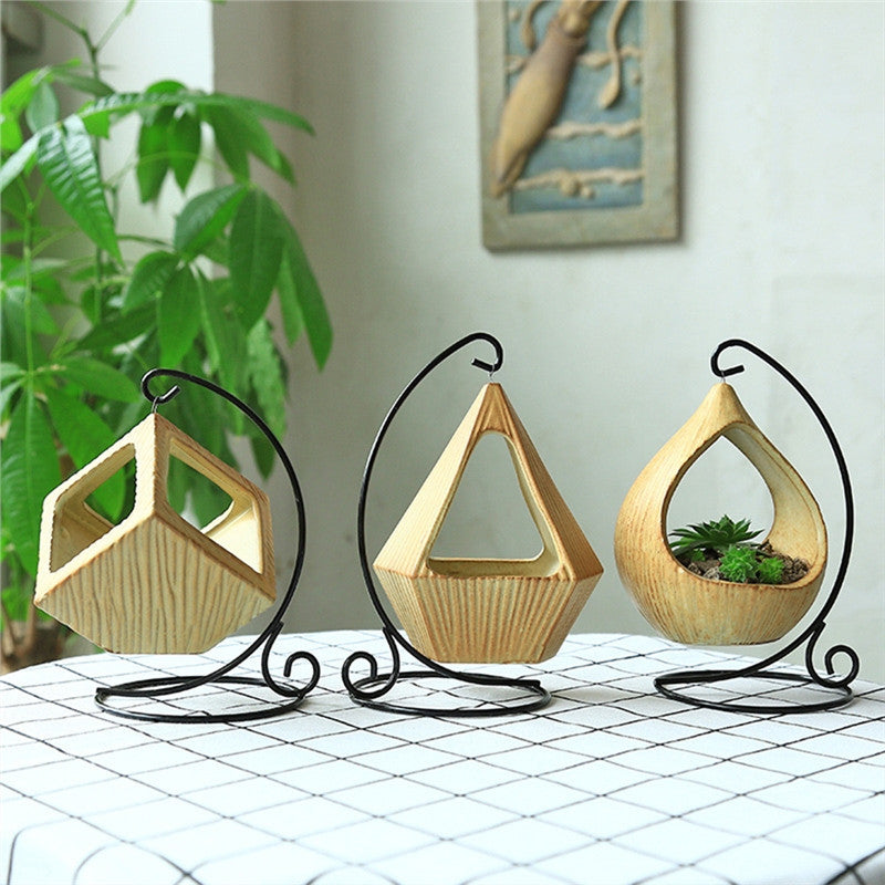 Mini Square Ceramic Hanging Planter