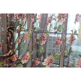 Floral Sheer Tulle Curtain