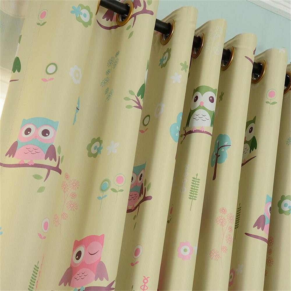 Owl Sheer Tulle Curtain