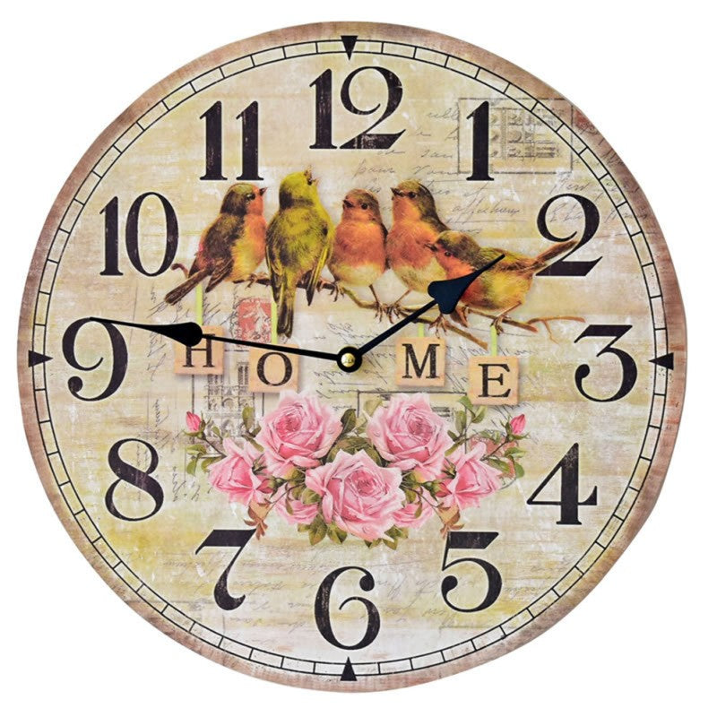 Beautiful Birds Wall Clock