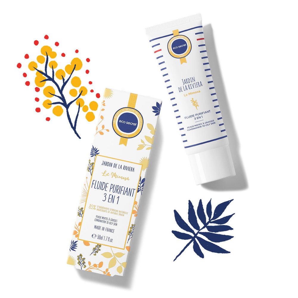Fluide purifiant 3 en 1 ecosecret et packaging
