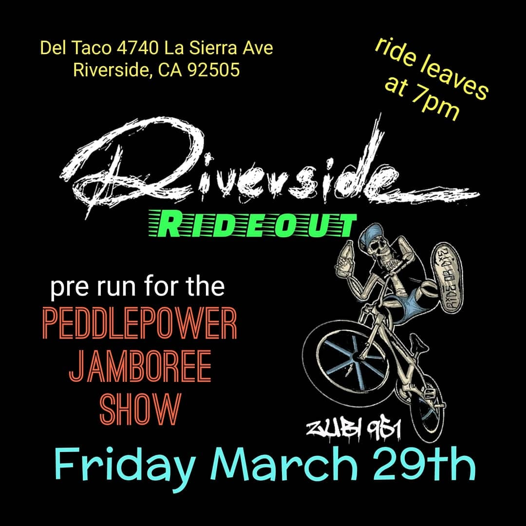 Riverside Ride out Friday March 29th, 2019 at 7pm