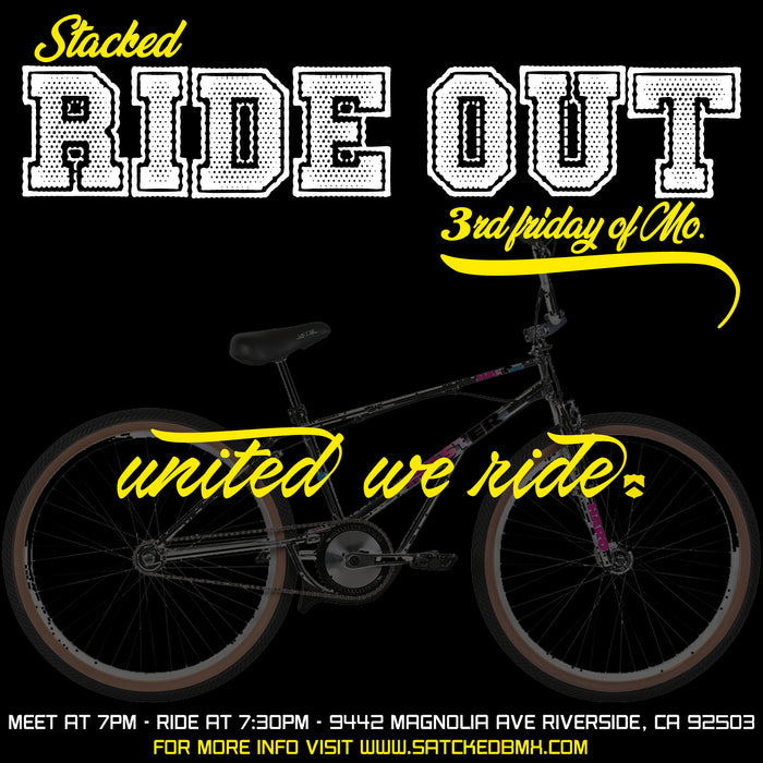 Stacked Ride out - at Stacked Bmx shop - July 19 at 7pm