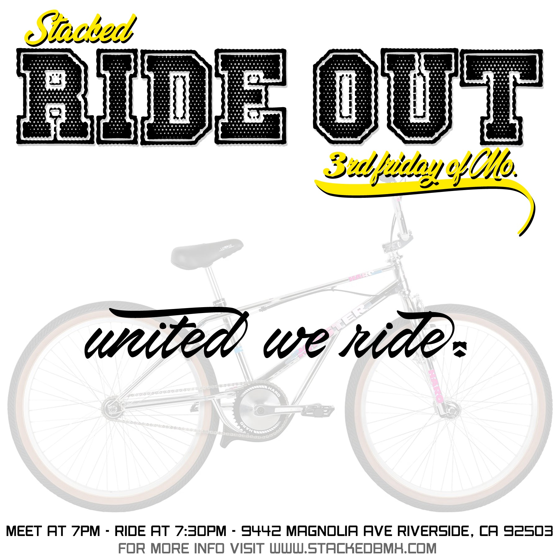 Stacked Ride out - at Stacked BMX Shop - June 21st - 7pm