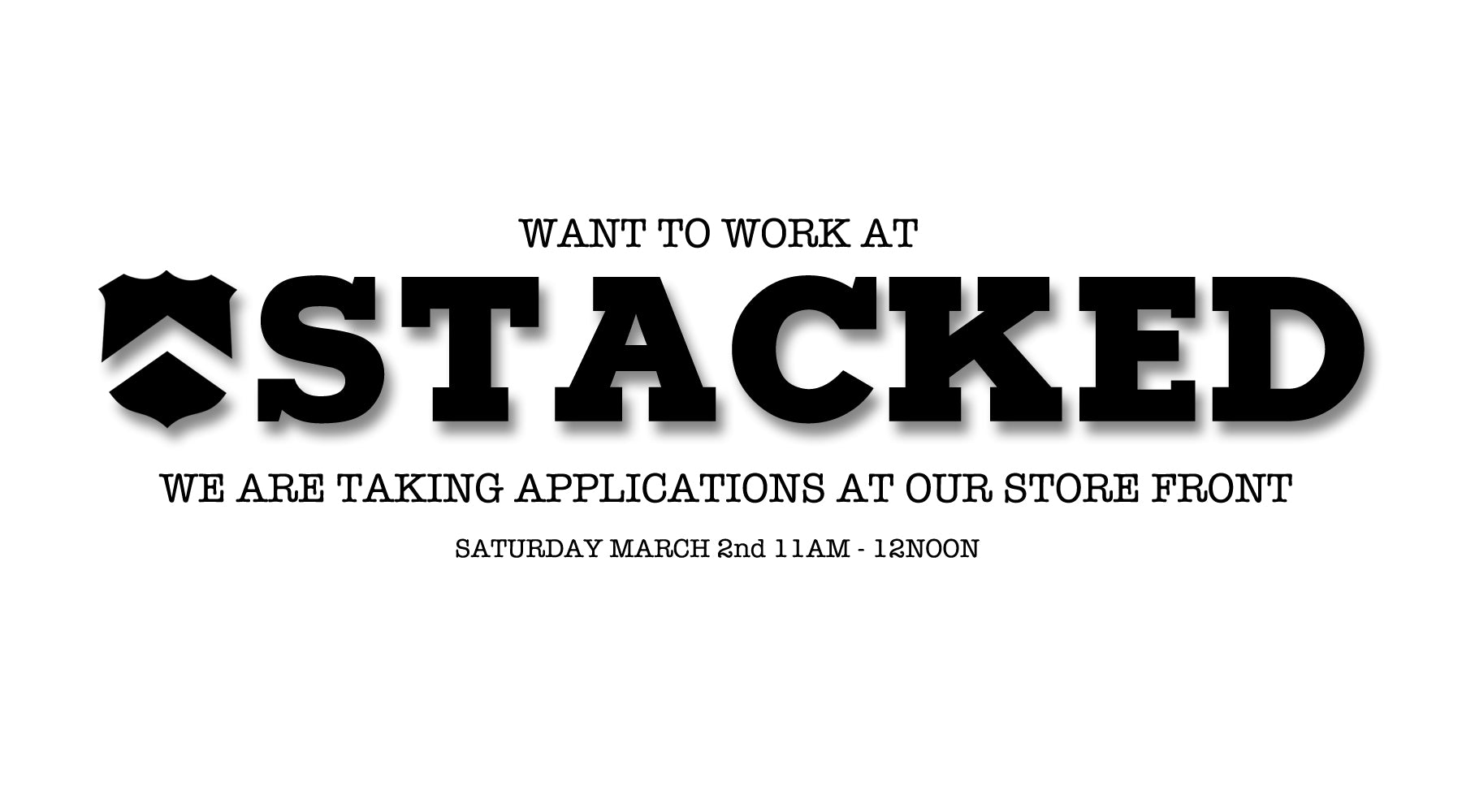 Want to work at Stacked BMX shop's store front