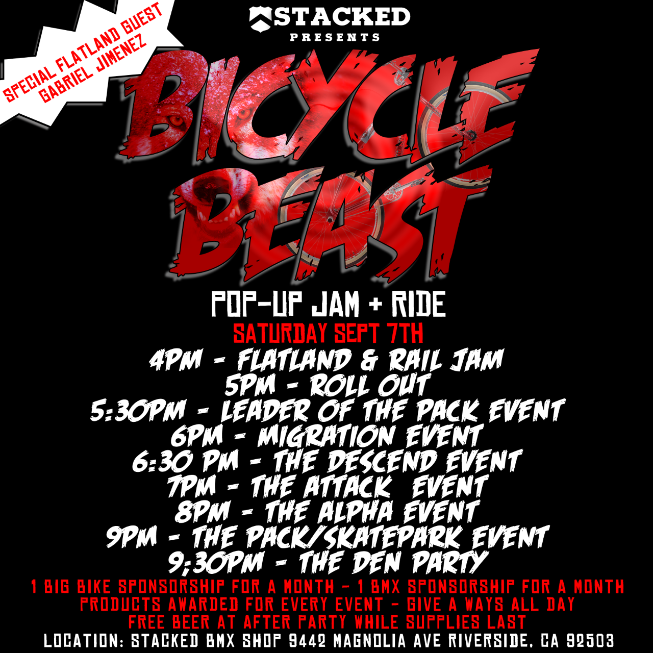 Stacked - Bicycle beast pop-up jam & ride