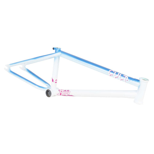 best street frame pearl white metallic blue cult crew bmx frame chromoly Miami vice