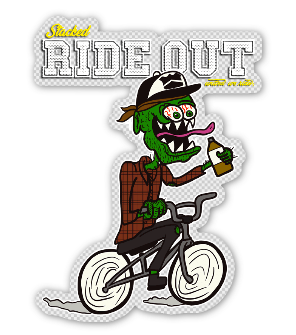 "3.25"" Stacked Original Rideout Sticker Clear"
