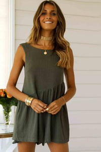 Sexy Loose-Fit Backless Romper-S / Army Green-looksinn