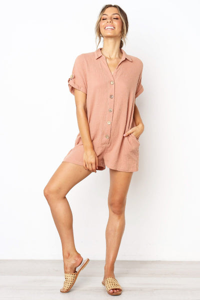 Stylish Buttoned Loose-Fit Romper-[variant_title]-looksinn