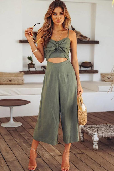 Sexy Hollow Tie-Front Jumpsuit-[variant_title]-looksinn