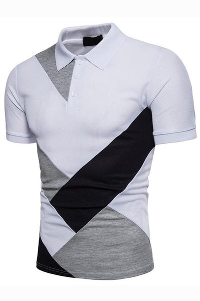 Stylish Color Block Short Sleeve Men's Polo-[variant_title]-looksinn