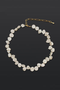 Vogue Natural Pearl Adjustable Necklace-White-looksinn