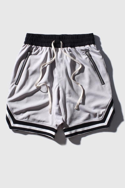 Casual Basketball Hip Hop Breathable Men's Shorts-S / Gray-looksinn