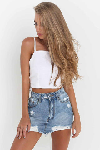 Sexy Backless Tie-Behind Crop Top-S / White-looksinn