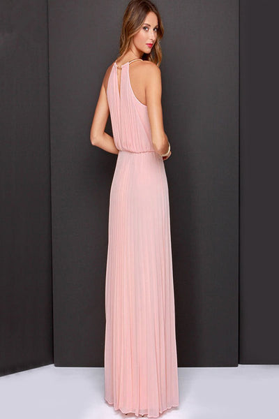 Delicate Pleated Slit Party Dress-[variant_title]-looksinn