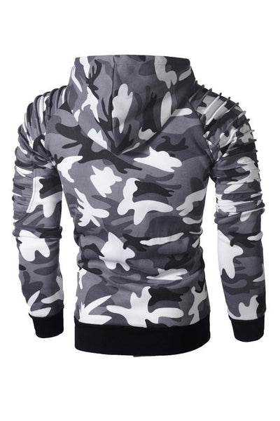 Simple Camouflage Print Pocket Men's Hoodie-[variant_title]-looksinn